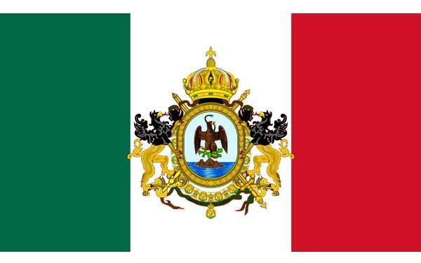 Bandera-de-México-(1864-1867)