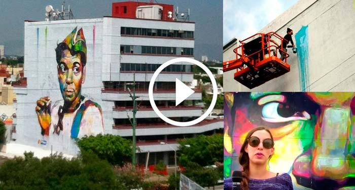 As se pint el mural de cantinflas en guadalajara zona for El mural guadalajara jalisco